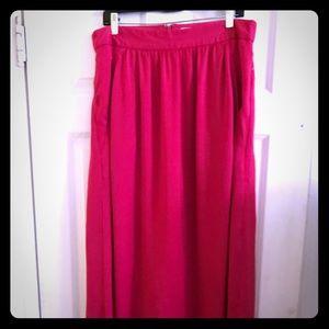 Hot pink maxi